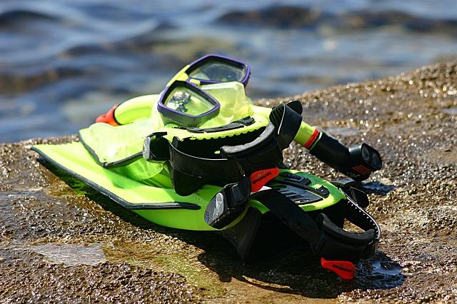 duikmateriaal en snorkelmateriaal