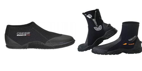 duikschoenen en duiklaarzen