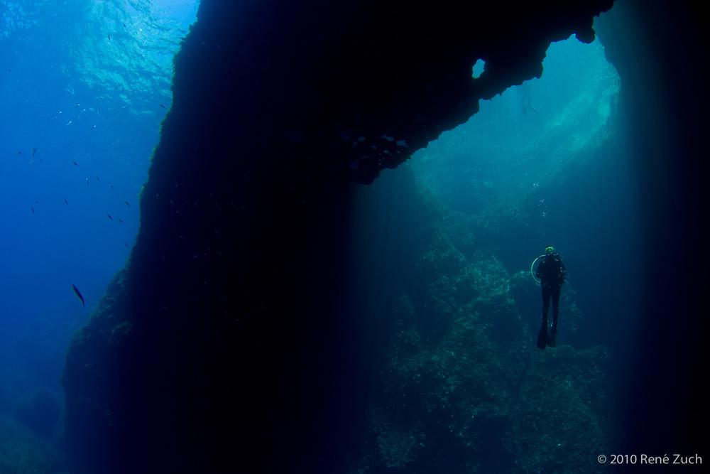 Duiken op Malta (Blue Hole)