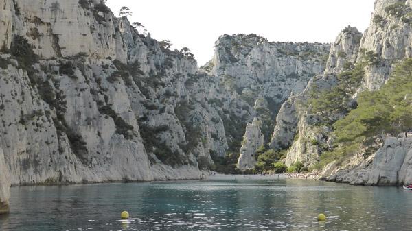 calanque in de buurt van Cassis