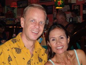 Steven met zijn vrouw Lin