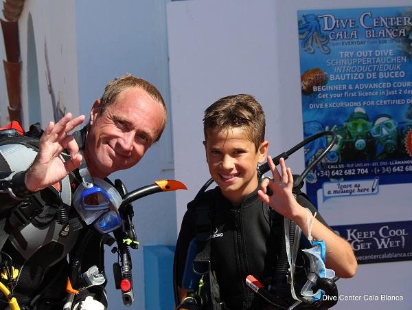 Michiel na een heerlijke duik op Menorca in augustus