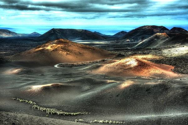 Prachtige vulkanische landschap van Lanzarote